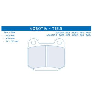 CL brake pads 4060 | EAMV Motorsport